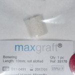 Figure 5: The Botiss Maxgraft bone ring is processed human allograft material